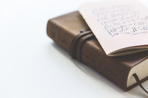 journal on a Bible