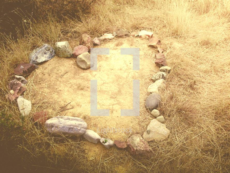 heart shape out of rocks