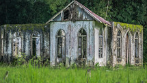 Abandoned Church   in the  Chaguaramas, Trinidad and Tobago (Caribbean)