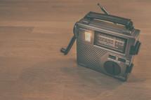 a hand cranked radio