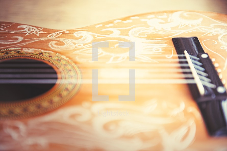 strings on a guitar