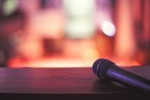 microphone in a church