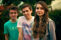 three teens