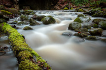 water flowing in a stream