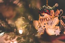 Christmas ornament on a Christmas tree.