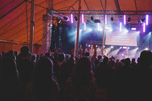 worship service in a tent