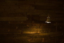 lamp in a corner