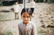 a young girl in a village