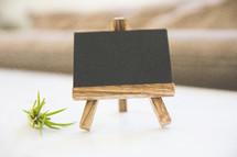 chalkboard on an easel
