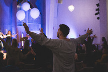 song and praise during a worship service