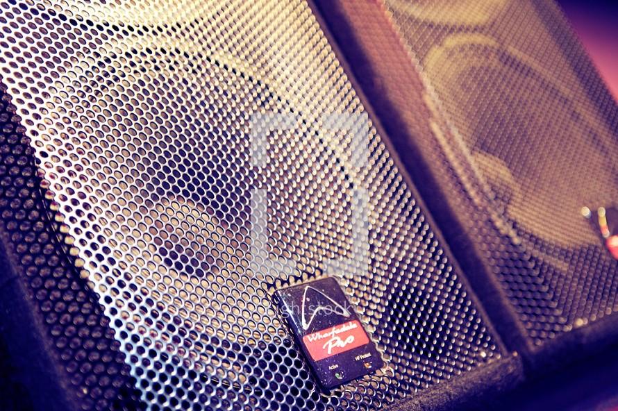speakers on the floor