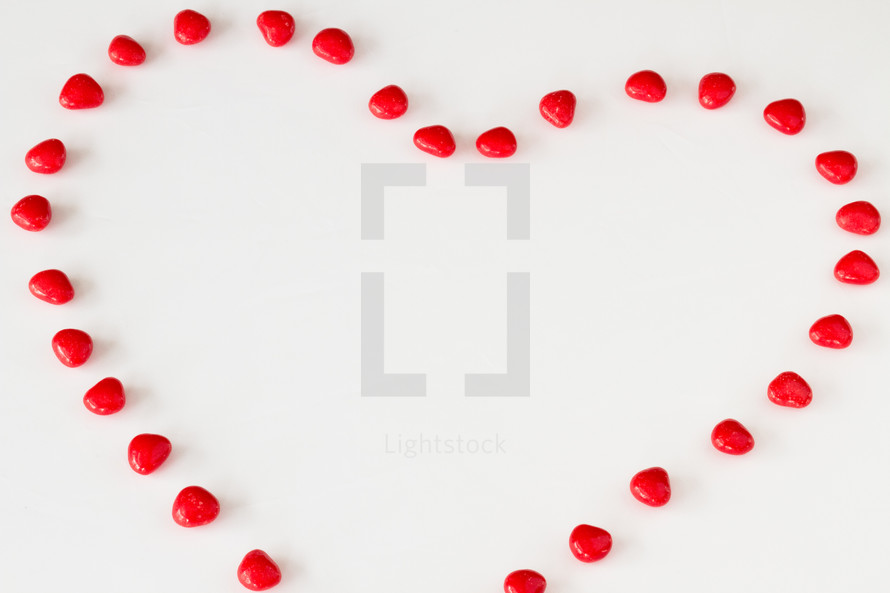 red hot heart candies