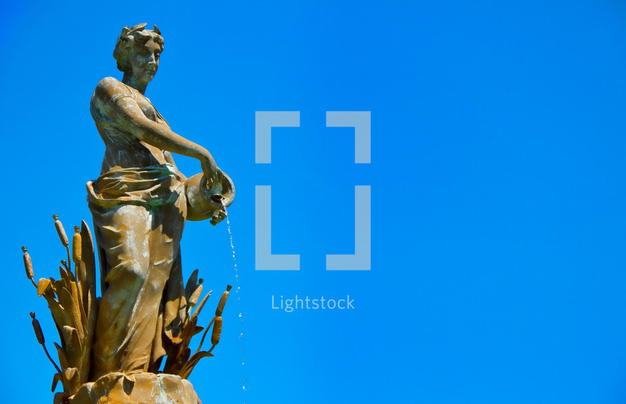 statue power water