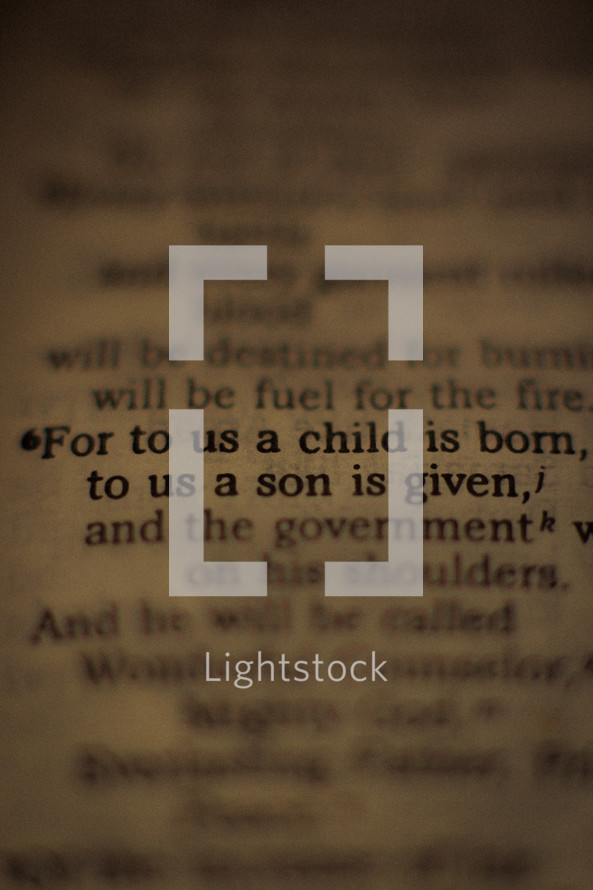 For to us a child is born, to us a son is given