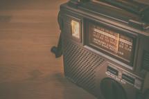 hand crank radio on a table