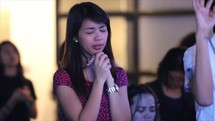 song, tears, and praise during a worship service
