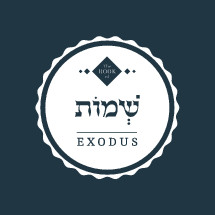 The Book of Exodus, Hebrew and English design element