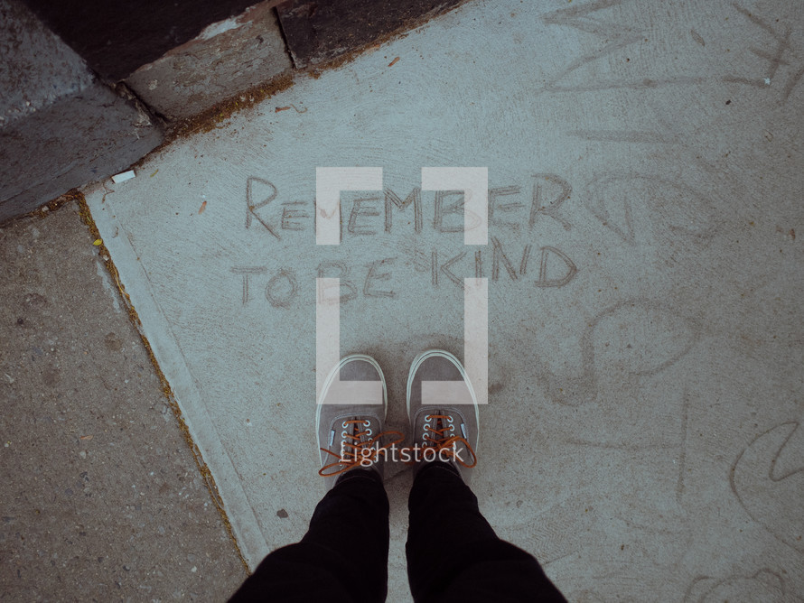 remember to be kind and feet