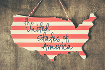 The United states of America sign