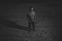 A man standing outdoors