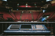 soundboard and empty theater