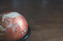 globe on a floor
