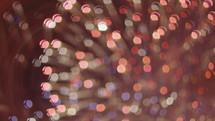 bokeh fireworks bursting in the night sky