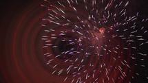 bokeh fireworks bursting in the night sky