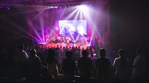 worship leaders leading a contemporary worship service in song