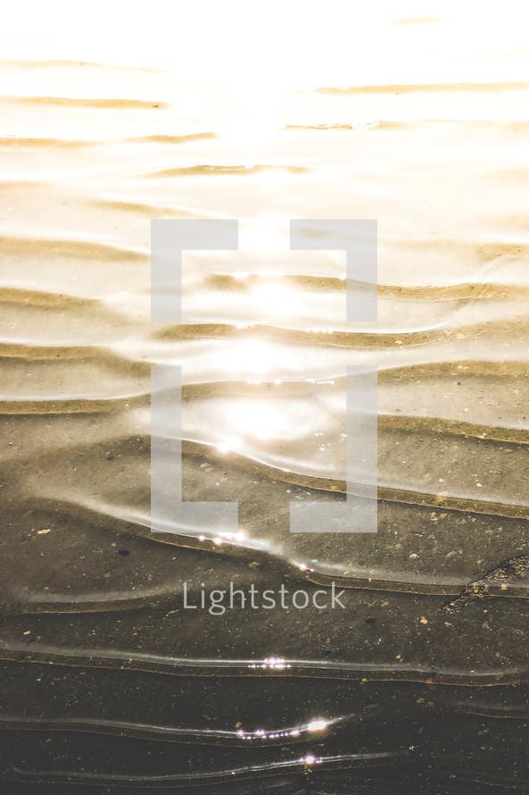 sunlight on water ripples
