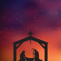 Christmas vector illustration of the nativity.