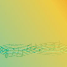colorful music notes background.