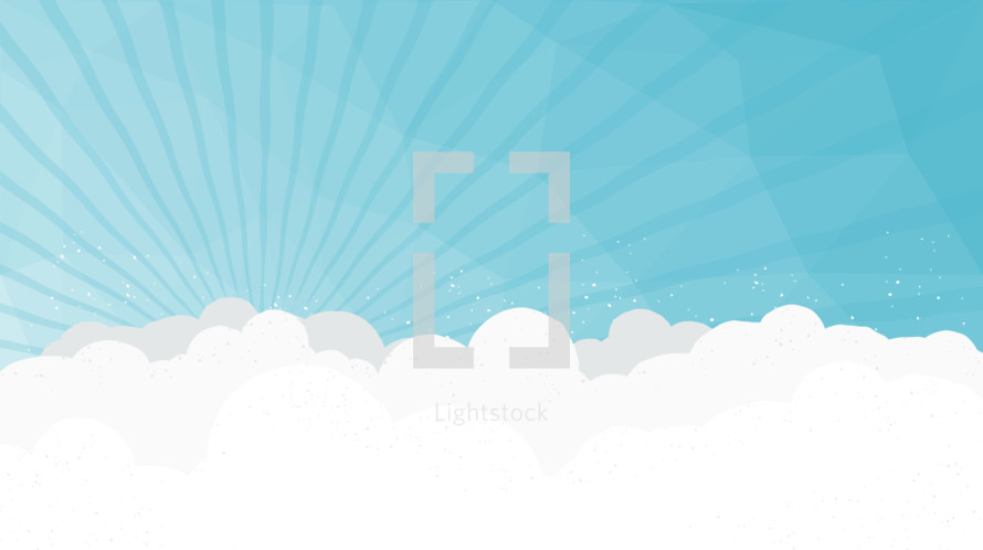 A vector sky background