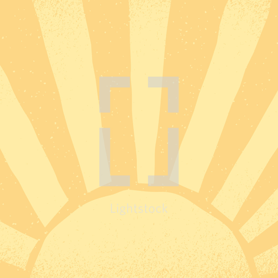 Sunshine icon background of the Easter sunrise sky.