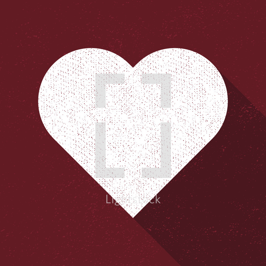heart shape vector illustration.