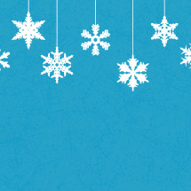 hanging snowflakes on a blue background