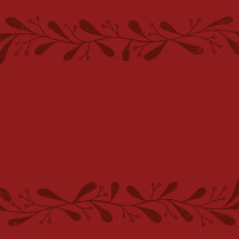 red, hand drawn ornate border.