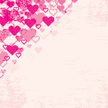 pink grunge heart border