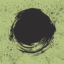 swirling black dot splatter background