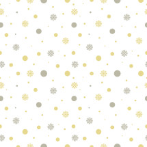 snowflakes and polka dots