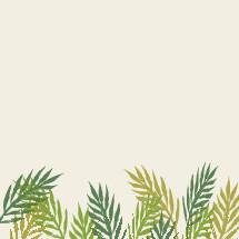 Palm frond border illustration.