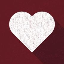 heart shape vector illustration.
