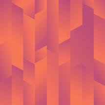 orange and pink prismic background