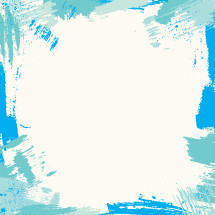 blue paint stroke border.