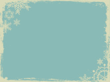 Christmas background with snowflake border.