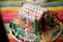 gingerbread houses and candy