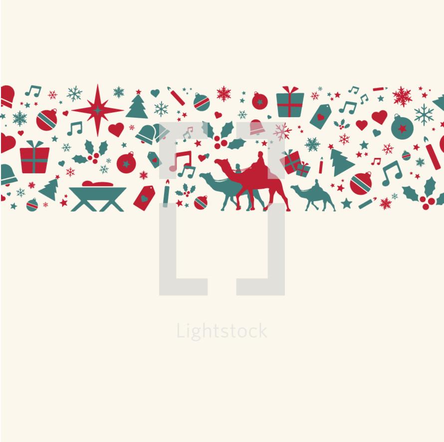 Christmas background border.