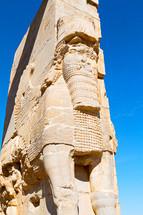 sphinx sculpture in Iran