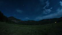 mountain stars in the night sky