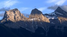 clouds over three sisters peaks time-lapse